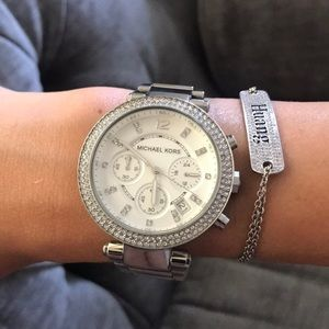 Michael Kors silver stainless steel watch